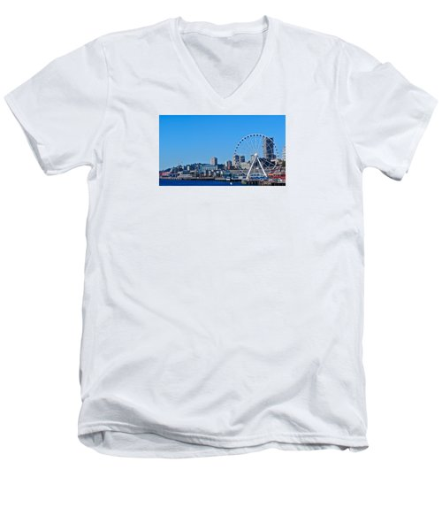 Blue Pier  Men's V-Neck T-Shirt