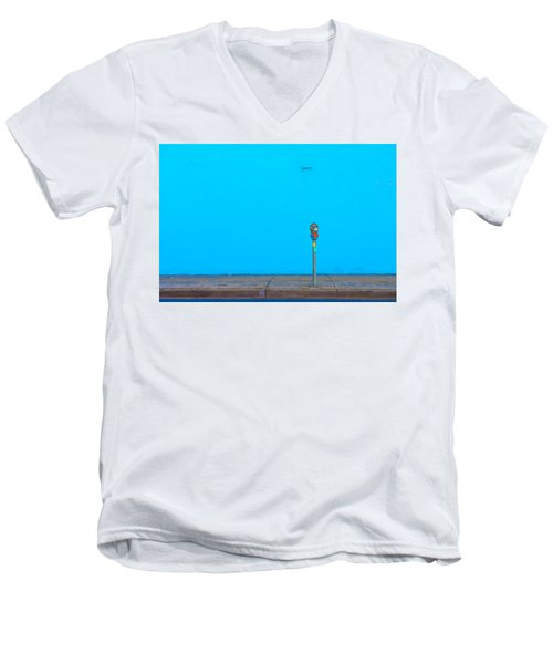 Blue Wall Parking Men's V-Neck T-Shirt