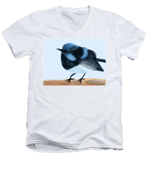 Blue Wren Beauty Men's V-Neck T-Shirt