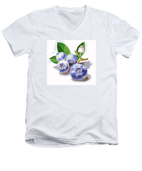 Artz Vitamins The Blueberries Men's V-Neck T-Shirt