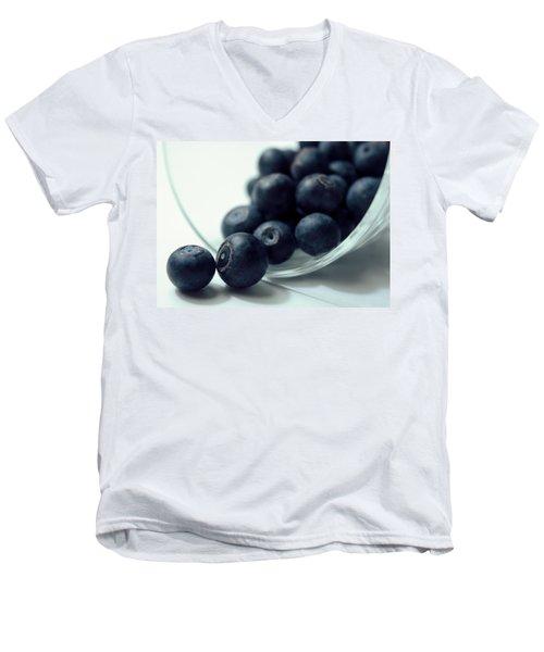 Blueberries Men's V-Neck T-Shirt by Joseph Skompski