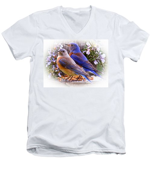 Bluebird Wedding Men's V-Neck T-Shirt