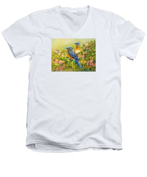 Bluebirds Men's V-Neck T-Shirt