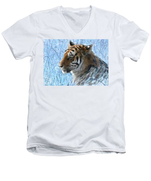 Bluegrass Tiger Men's V-Neck T-Shirt