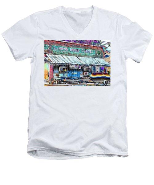 Blues Club In Clarksdale Men's V-Neck T-Shirt