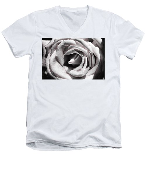Blushing Rose Men's V-Neck T-Shirt