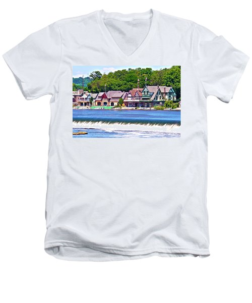 Boathouse Row - Hdr Men's V-Neck T-Shirt