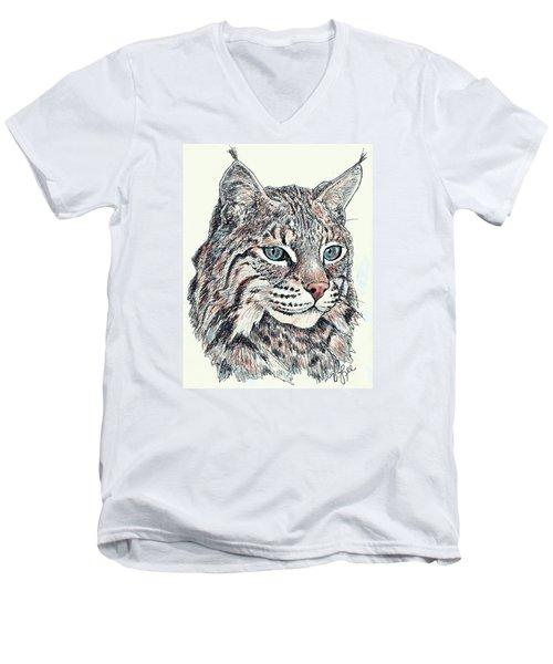 Bobcat Portrait Men's V-Neck T-Shirt