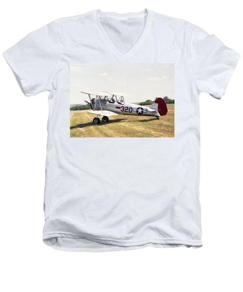 Boeing Stearman Men's V-Neck T-Shirt
