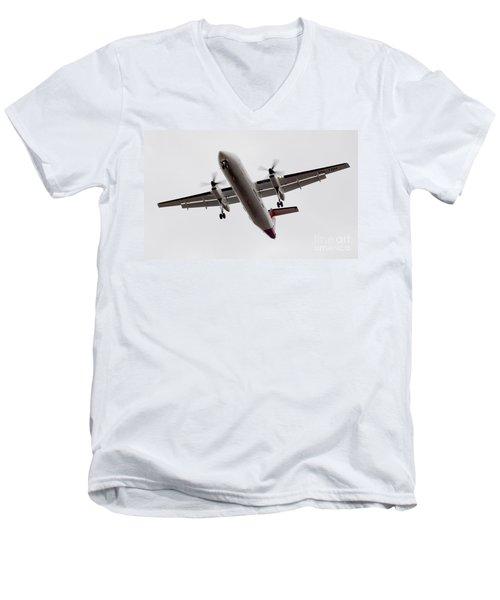 Bombardier Dhc 8 Men's V-Neck T-Shirt by Steven Ralser