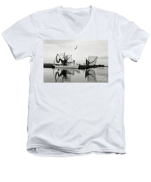 Bon Temps Men's V-Neck T-Shirt by Scott Pellegrin