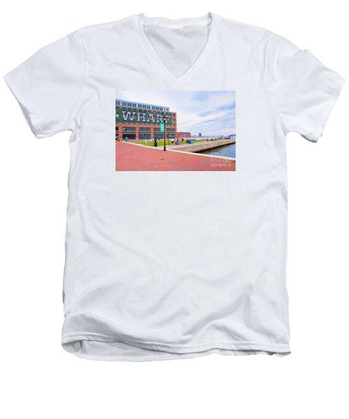 Bond Street Landing Baltimore Maryland Men's V-Neck T-Shirt by Vizual Studio