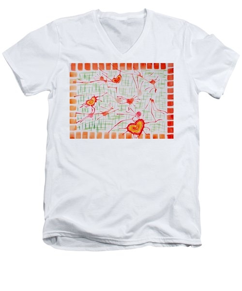 Bonds Of Love Men's V-Neck T-Shirt by Sonali Gangane