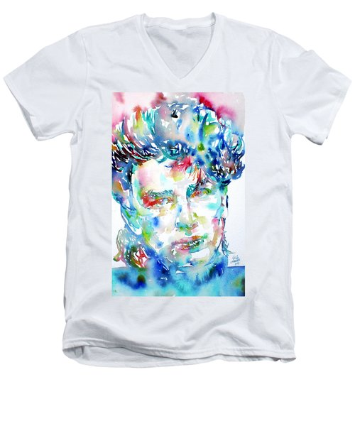 Bono Watercolor Portrait.1 Men's V-Neck T-Shirt