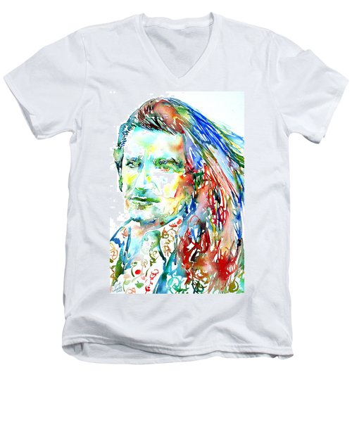 Bono Watercolor Portrait.2 Men's V-Neck T-Shirt