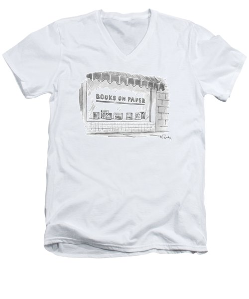 'books On Paper' Men's V-Neck T-Shirt