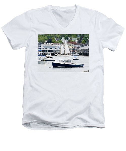 Boothbay Harbor Men's V-Neck T-Shirt