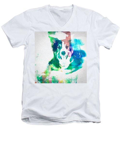 Border Collie - Wc Men's V-Neck T-Shirt