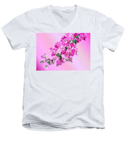 Men's V-Neck T-Shirt featuring the photograph Bougainvillea by Kristin Elmquist