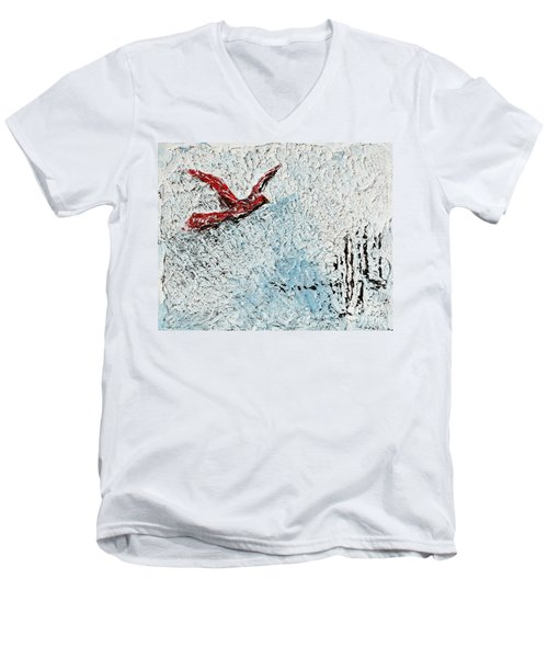 Bound To Fly Men's V-Neck T-Shirt by Alys Caviness-Gober