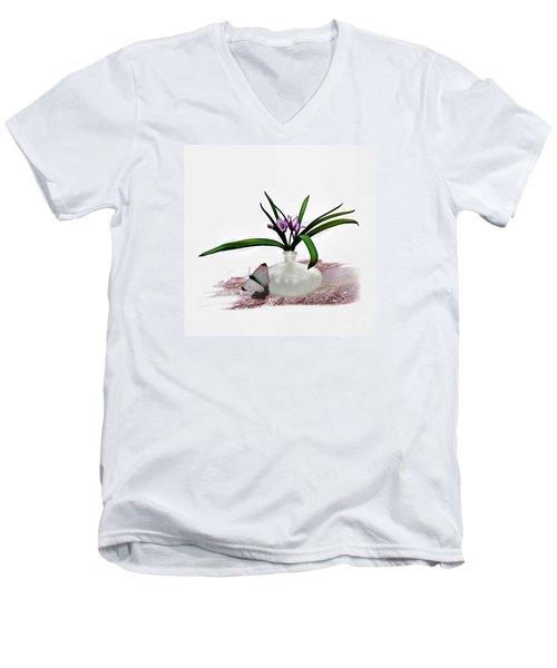 Bouque Of Flowers Men's V-Neck T-Shirt