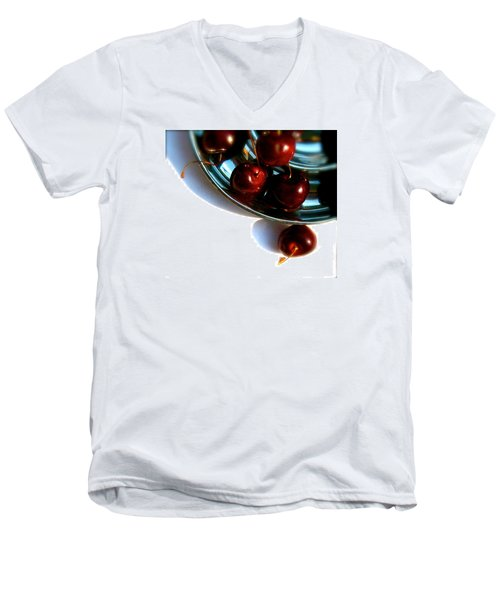 Bowl Of Cherries Men's V-Neck T-Shirt by Tracy Male