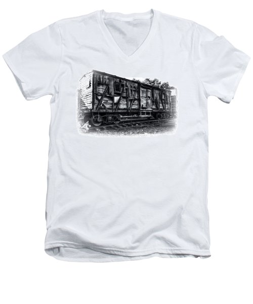 Box Car In High Key Hdr Men's V-Neck T-Shirt