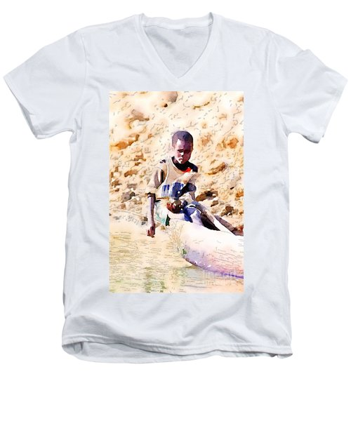 Boy In The Boat Men's V-Neck T-Shirt