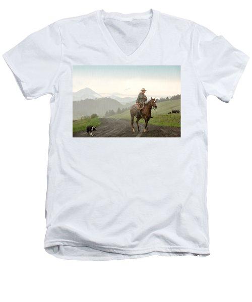 Braving The Rain Men's V-Neck T-Shirt