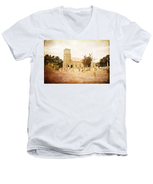 Brick Church In Montgomery Men's V-Neck T-Shirt
