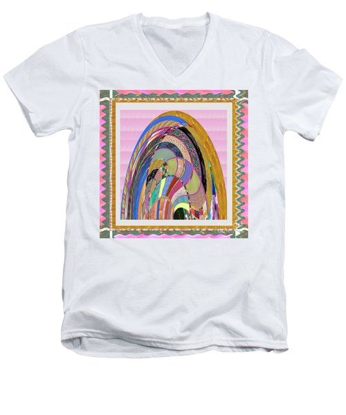 Bride In Layers Of Veils Accidental Discovery From Graphic Abstracts Made From Crystal Healing Stone Men's V-Neck T-Shirt
