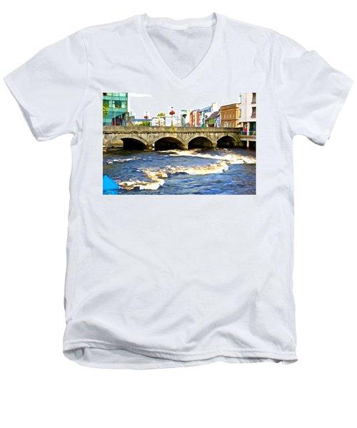 Bridge On The Garavogue Men's V-Neck T-Shirt