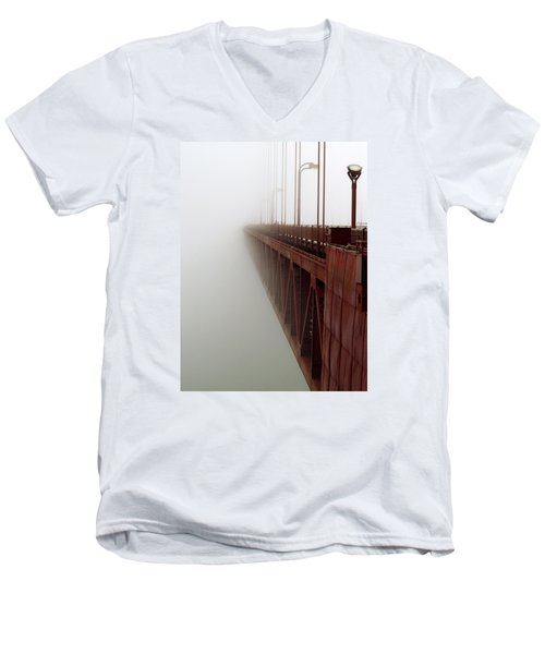 Bridge To Obscurity Men's V-Neck T-Shirt by Bill Gallagher