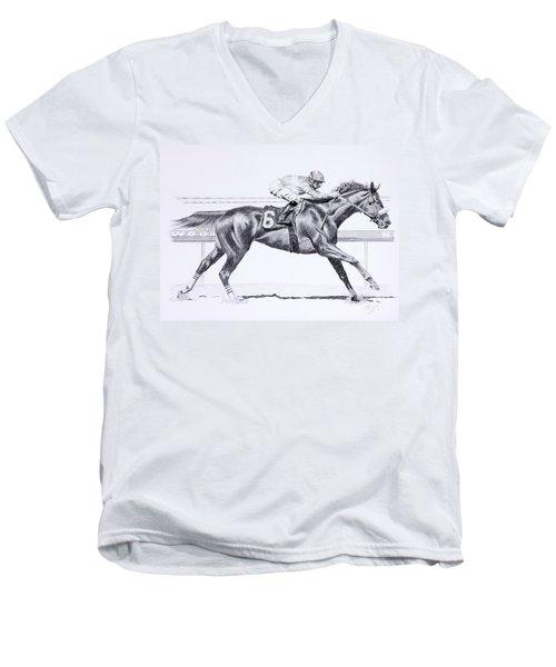 Bring On The Race Zenyatta Men's V-Neck T-Shirt