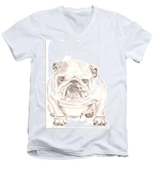 British Bulldog Winnie Men's V-Neck T-Shirt