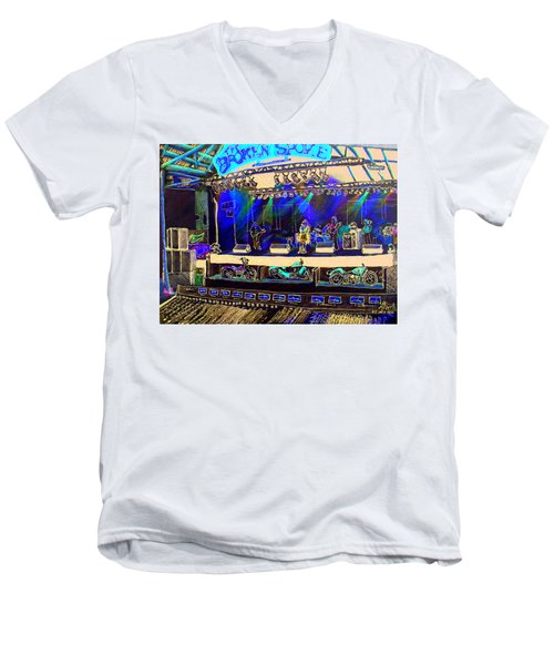 Broadband At The Broken Spoke Saloon Men's V-Neck T-Shirt by Albert Puskaric