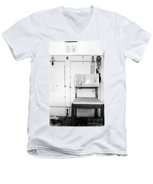 Men's V-Neck T-Shirt featuring the photograph Broken Chair by Carsten Reisinger