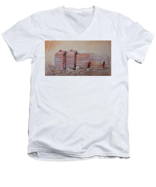 Broken Dock Seward Alaska Men's V-Neck T-Shirt by Richard Faulkner