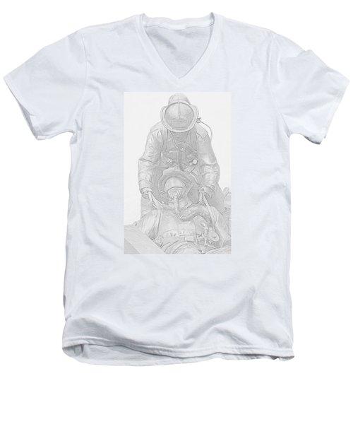 Brothers Men's V-Neck T-Shirt by Susan  McMenamin