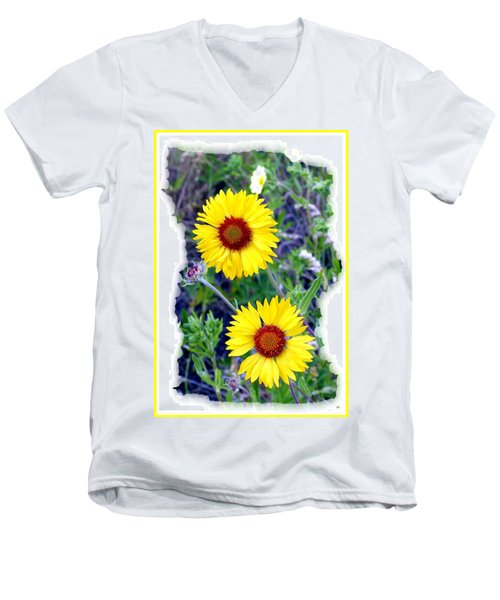 Brown- Eyed Susans Men's V-Neck T-Shirt