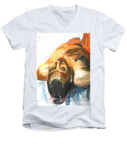 Brown Sugar Men's V-Neck T-Shirt