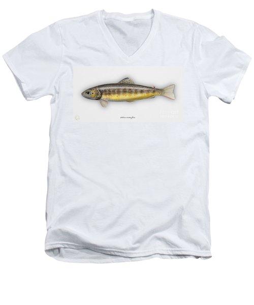 Brown Trout - Salmo Trutta Morpha Fario - Salmo Trutta Fario - Game Fish - Flyfishing Men's V-Neck T-Shirt
