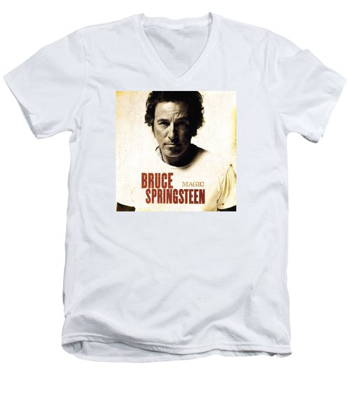 Men's V-Neck T-Shirt featuring the photograph Bruce by Bruce