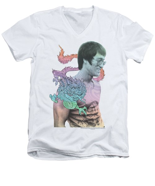 Bruce Lee - A Little Bruce Men's V-Neck T-Shirt by Brand A