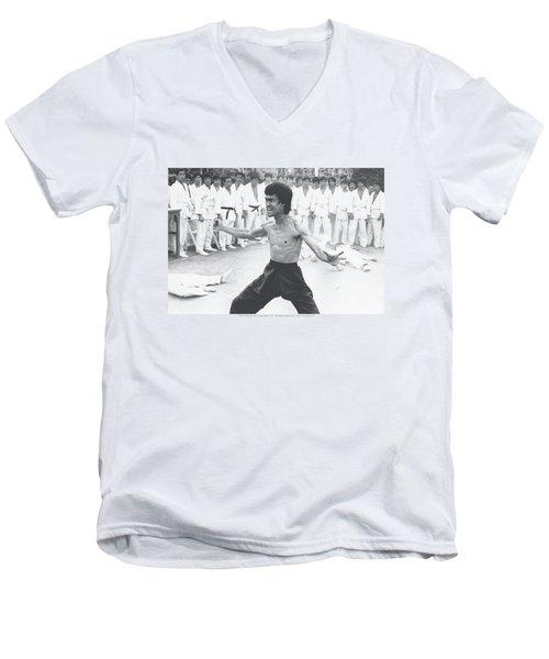 Bruce Lee - Triumphant Men's V-Neck T-Shirt by Brand A