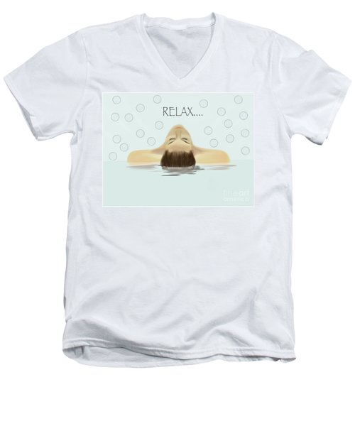 Bubble Bath Luxury Men's V-Neck T-Shirt