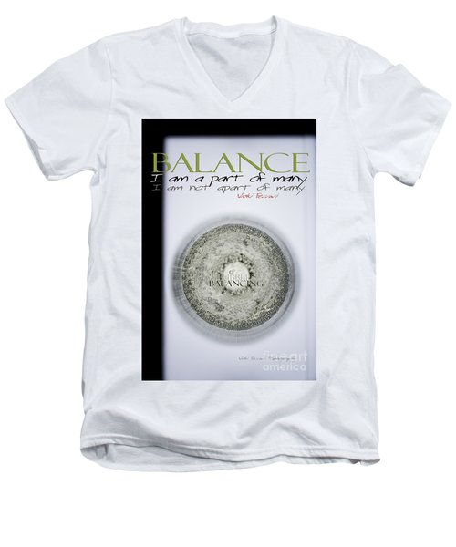 Men's V-Neck T-Shirt featuring the photograph Bubbles Balance Bubbles by Vicki Ferrari