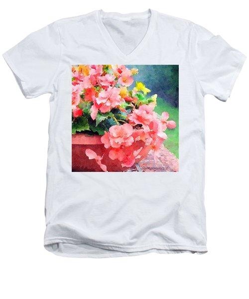 Bucket O Begonias Men's V-Neck T-Shirt
