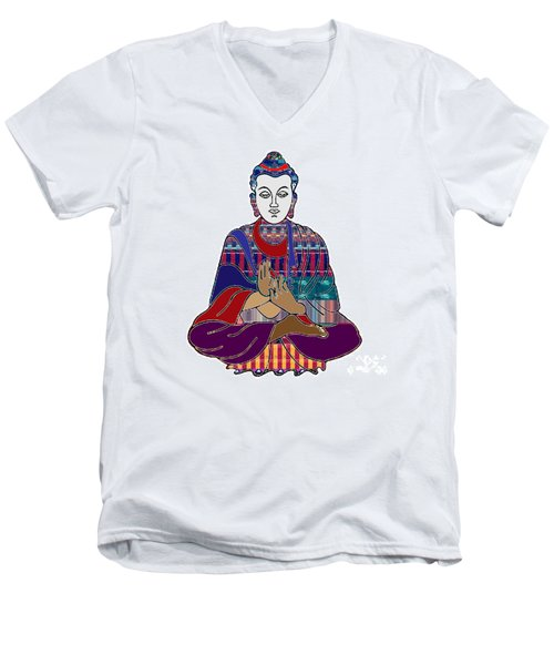Buddha In Meditation Buddhism Master Teacher Spiritual Guru By Navinjoshi At Fineartamerica.com Men's V-Neck T-Shirt