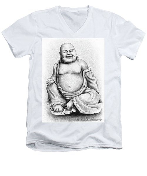 Buddha Buddy Men's V-Neck T-Shirt